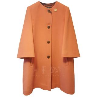 Roberto Cavalli Wool & Cashmere Orange Coat