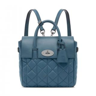 Mulberry steel blue mini Cara Delevingne Backpack