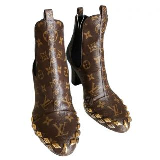 Louis Vuitton Monogram Embellished Ankle Boots