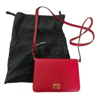 Dolce & Gabbana Red Leather Mini Crossbody Bag