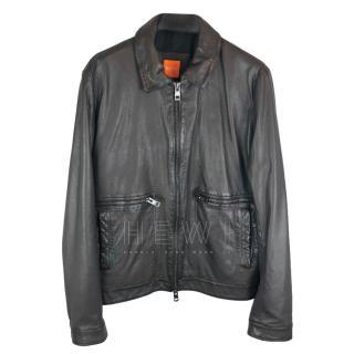 Boss Orange Calfskin Leather Jacket