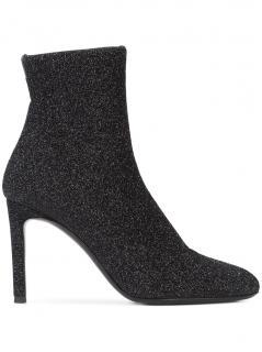 Giuseppe Zanotti grey glitter sock ankle boots