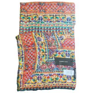 Dolce & Gabbana twill printed luxury silk scarf