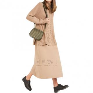MaxMara soft cashmere blend camel jumper