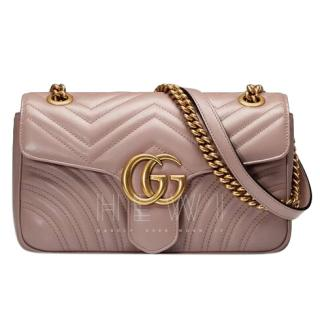 Gucci beige leather medium Marmont shoulder bag
