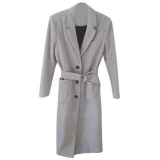 American Vintage Louping Belted Melange Wool blend felt Coat