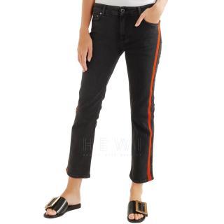 Victoria Victoria Beckham Crop Red Side Stripe Jeans