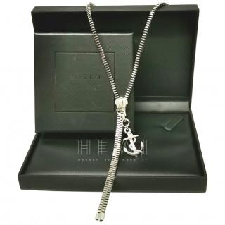 Mateo Zip & Anchor Necklace