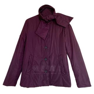Prada Aubergine HIgh Neck Jacket