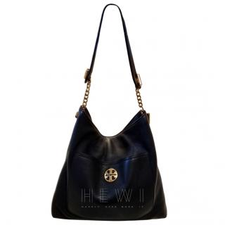 Tory Burch Black Leather Slouchy tote bag