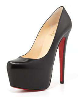 Christian Louboutin Daffodile 160 Kid Leather black pumps