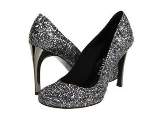 Pedro Garcia Black Xio Glitter-Finish Pumps
