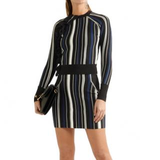 Phillip Lim Ruffle-trimmed striped stretch sweater
