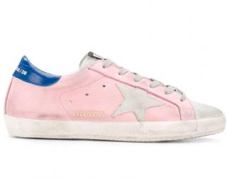 Golden Goose pink SUPERSTAR  trainers available in  size  35 or 38 or 40 eu.