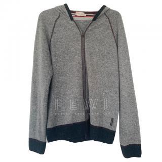Moncler Men's Grey Cashmere & Wool Hoodie