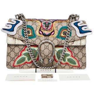 Gucci Monogram & Python Embroidered Dionysus Bag