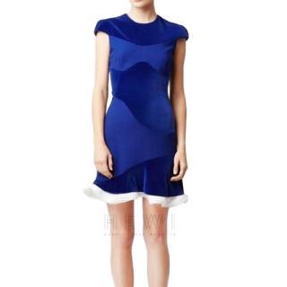 Alexander McQueen Organza Trim Velvet Dress
