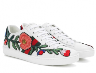 Gucci Floral Embroidered Ace Sneakers