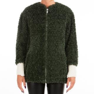 Isabel Marant . Wool & Alpaca Blend Abril Faux Fur Jacket