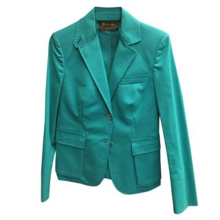 Loro Piana Turquoise Tailored Jacket