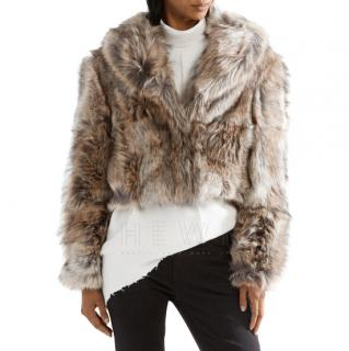 Stella McCartney Masha Cropped Faux Fur Jacket