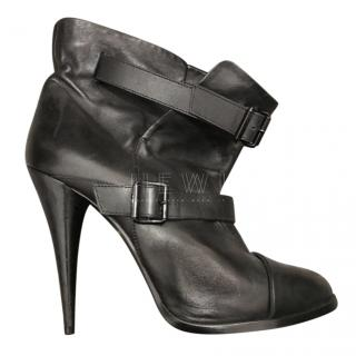Givenchy Black Nappa Leather Buckle Detail Ankle Boots