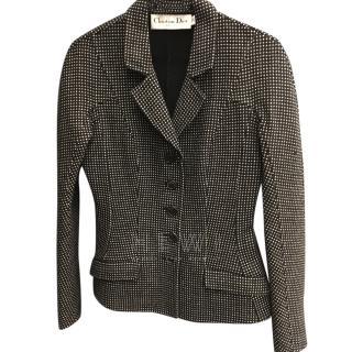 Christian Dior Black & White Tweed Jacket