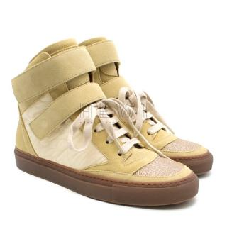 Brunello Cucinelli High Top Suede Sneakers