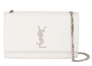 Saint Laurent White Medium Kate Tassel Bag