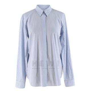 Victoria Beckham striped blue & white shirt
