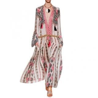 Etro Multi-Print Saffron Silk Maxi Dress