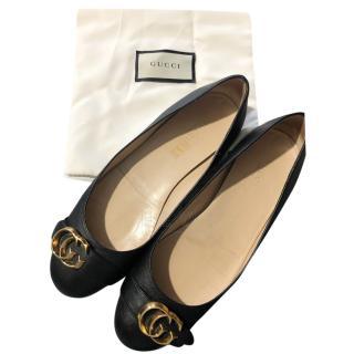 Gucci Black Marmont Ballerina Flats