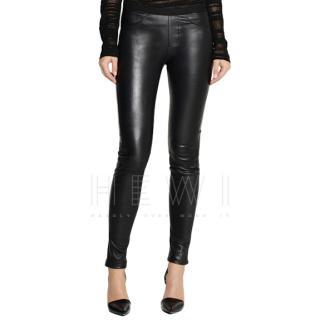 Helmut Lang Black Lamb Leather Leggings