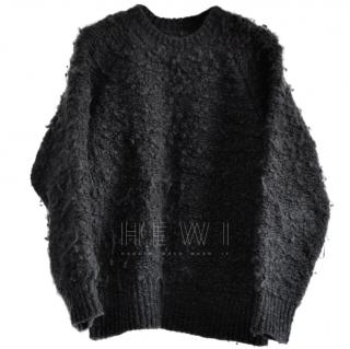 MM6 Maison Margiela Wool Black Crew Neck Jumper