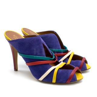 Malone Souliers Violet Multi-Strap Mules