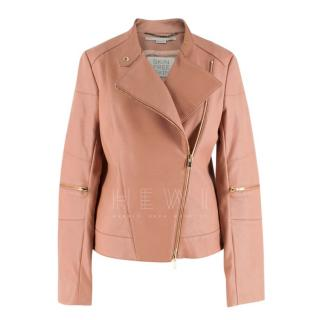 Stella McCartney Pink Faux Leather Jacket
