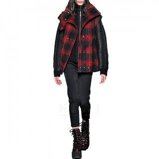 Alexander Wang Buffalo Plaid Brushed Wool Vest