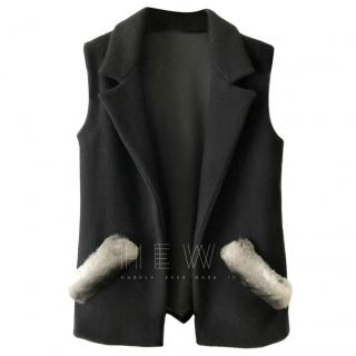 FurbySD Chinchilla Trim Wool Waistcoat