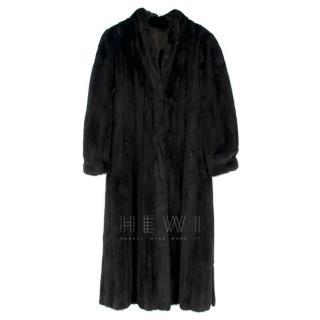 Loretta Furs Black Mink Fur Long Coat