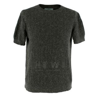 Prada Grey knit short sleeve top