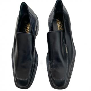 Gianni Versace Black Leather Loafers