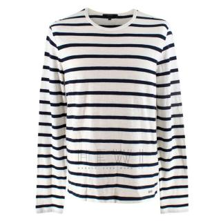 Gucci Navy & White Striped Long Sleeve Top