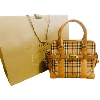 Burberry Haymarket Tote Bag