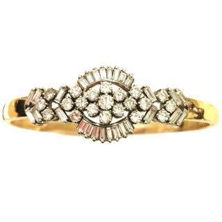 Bespoke Yellow Gold Diamond Floral Bracelet