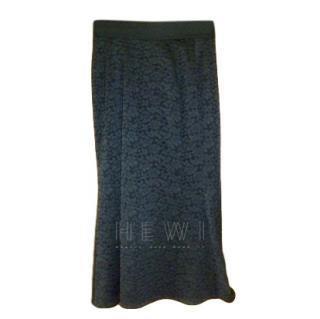 Dolce & Gabbana Black Lace Fishtail Skirt