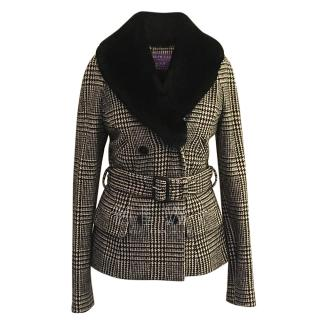 Ralph Lauren Collection Prince of Wales Check Belted Jacket