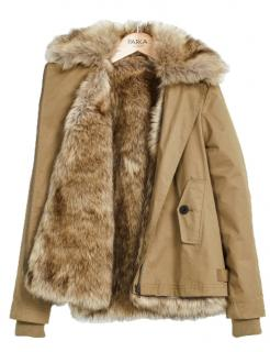 Parka London Faux Fur Lined Gold Parka