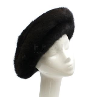 Brunschwig Black Mink Fur Hat