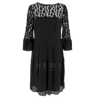 Somerset by Alice Temperley Black Lace Panelled Dress