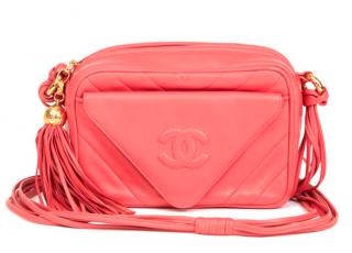 Chanel Pink Vintage Leather Camera Bag